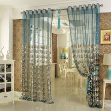 perfect ideas teal and gold curtains stylish idea elegant embroidery craftsmanship sheer curtain
