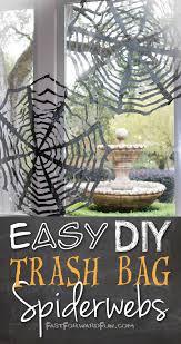 diy halloween decorations home. Try These Cheap And Easy Trash Bag Spider Webs From \u0027Fast Forward Fun\u0027. They Even Have A How-to Video To Creating Simple DIY Halloween Decorating Diy Decorations Home