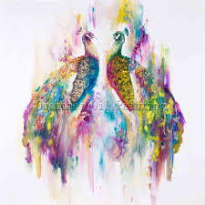 oil painting birds lovely x series beautiful colors modern canvas pea oil painting artist
