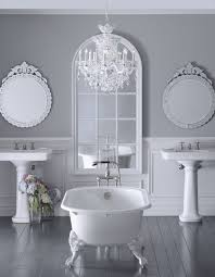 mini chandelier for bathroom. Appealing Bathroom Crystals Over Tub In A Rustic Pic Of Small Chandelier For Style And Trends Mini N