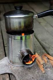 homemade wood gas camp stove pictures