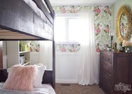 rustic glam girls bedroom in dark wood gold mint pink gorgeous decor