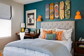 Orange Bedroom Decor Project Nursery Teal And Orange Skateboarding Bedroom Kids
