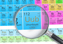 Ununnium (Copernicium) symbol - Uub. Element of the periodic table ...