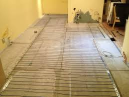 the heated tile floor project preparation electric tile floor heating cable installation