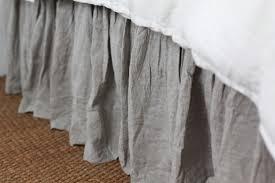 linen bedskirt king. Contemporary King Pompomflaxjpg Intended Linen Bedskirt King