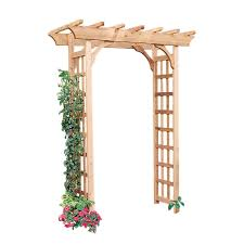 garden arbor lowes. Interesting Lowes Garden Architecture 53ft W X 7ft H Natural Arbor With Lowes A