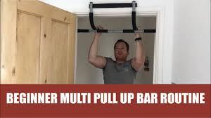 Beginner Multi Pull Up Bar Routine