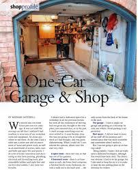 garage workshop. a one-car garage workshop