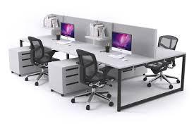 modern office workstations. Litewall Evolve - A Modern Office Workstation Desk For 4 People [1200L X 800W] Workstations W
