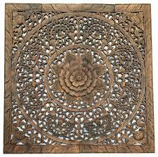 elegant wood carved fl bali art