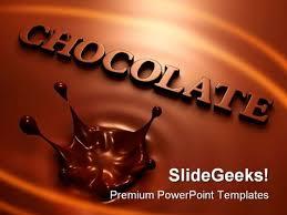 Powerpoint Templates Food Chocolate Splash Food Powerpoint Templates And Powerpoint