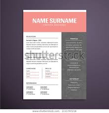 Modern 2020 Resume Modern Professional Resume Cv Design Stock Vector Royalty