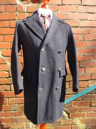 s 38r rare vintage 40 s 50 s mens gpo navy wool db pea coat