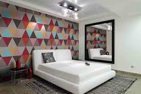 color design for bedroom. Color Contrast Bedroom Wallpaper Design For