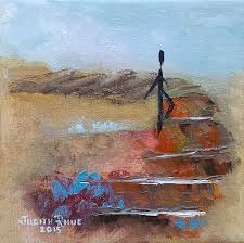 take that step original abstract oil painting on inch canvas by judith rhue