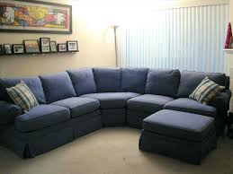 Gallery of Navy Blue Microfiber Sectional Sofa Swirl Upholstery Fabric Sky