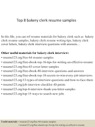 Bakery Clerk Job Description For Resume Bakery Clerk Resume Therpgmovie 18