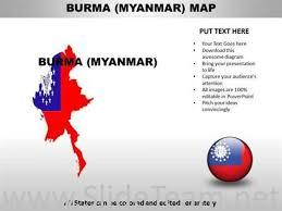 Country Powerpoint Maps Burma Myanmar Powerpoint Diagram