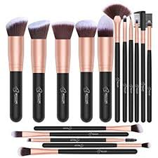 bestope makeup brushes 16 pcs makeup brush set premium synthetic foundation brush blending face powder blush