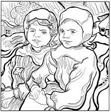 Twee Kleine Meisjes 1890 Kleurplaat Jouwkleurplaten