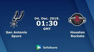San Antonio Spurs Houston Rockets live score, video stream and ...