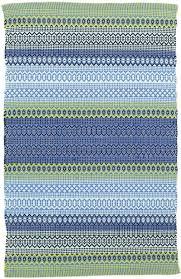 dash and albert fiesta stripe french blue green indoor outdoor rug