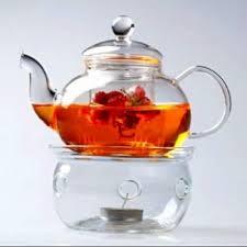 senarai harga borosilicate glass tea pot set infuser teapot warmer 6 double wall tea