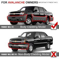 2002-2003-2004-2005-2006 Chevy Avalanche Z71 Body Cladding Bumper ...