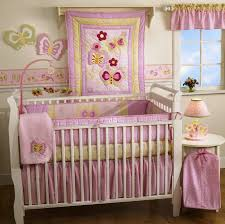Baby Butterfly Girl Kids Crib Bedding