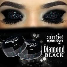 glitterwarehouse glitter eyeshadow eye shadow shimmer makeup powder diamond black