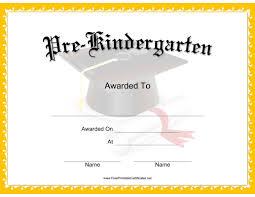 Prek Diploma This Mortarboard Pre K Certificate Features A Mortarboard Tassel