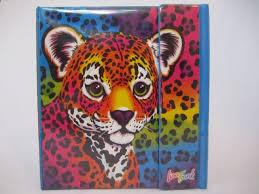 vintage lisa frank 3 ring binder rainbow hunter cheetah leopard