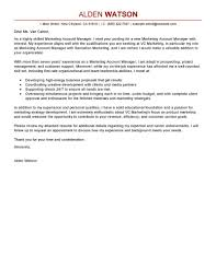 Examples Of Good Cover Letters For Resumes Leading Professional Account Manager Cover Letter Examples 39