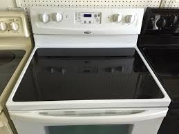 double whirlpool glass top stove