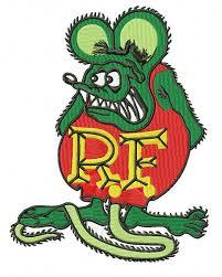 rat fink embroidery design