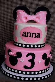 Minnie mouse birthday cake decorations