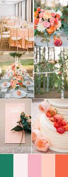 peach and orange wedding decoration and flower color ideas