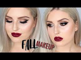fall makeup tutorial deep berry lips smokey eyes watch now