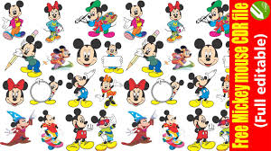 Free Mickey mouse CDR File - YouTube