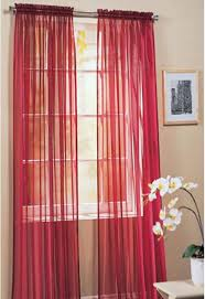 view romeo tab top red voile panel juliet rod pocket maroon voile panel