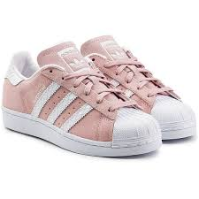 adidas shoes pink. adidas originals leather and suede superstar sneakers (1.800 ars) ❤ liked on polyvore featuring shoes pink