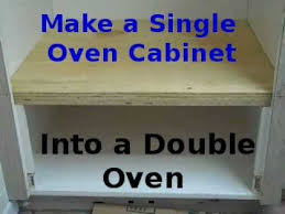 making existing single oven cabinet