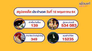 หวย 1/6/64 รวยสรุปหวยเด็ดงวดนี้ และเลขเด็ดงวดนี้ทั่วประเทศไทย