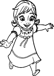 Small Picture Young Anna Coloring Page Wecoloringpage
