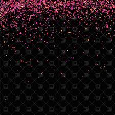 Black Blackground Orange And Pink Confetti On Black Background Vector Illustration Of