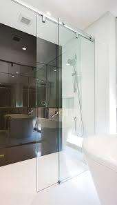 inline slider frameless glass shower screen