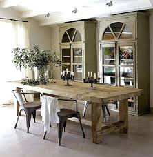 rustic dining room table modern tables for wood decorations 7 set 4