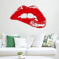 fashion wall art beautiful wall decal fashion woman hot lips vinyl sticker art home decor of