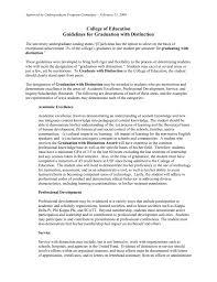 Merit Designation Graduating With Distinction Guidelines